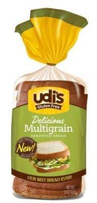 Loaf Bread, Udi's® Gluten Free Multigrain Bread (24 oz Bag)