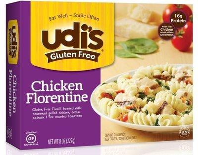 Chicken, Udi's® Gluten Free Chicken Florentine (8 oz Box)