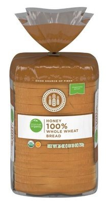 Loaf Bread, Simple Truth Organic™ Honey Whole Wheat Bread (26 oz Bag)