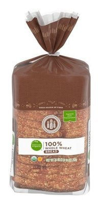 Loaf Bread, Simple Truth Organic™ 100% Whole Wheat Bread (26 oz Bag)
