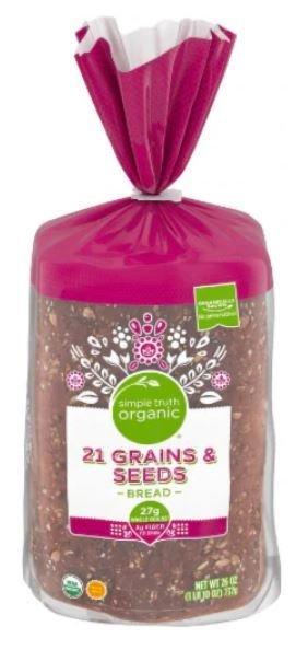 Loaf Bread, Simple Truth Organic™ 21 Grains & Seeds Bread (26 oz Bag)