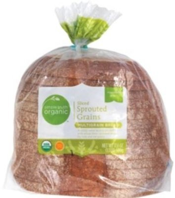 Loaf Bread, Simple Truth Organic™ Sprouted Grains Multigrain Bread (17.6 oz Bag)