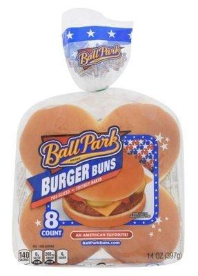 Hamburger Buns, Ball Park® Hamburger Buns (8 Count, 14 oz Bag)