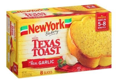 Garlic Bread, New York Bakery® Texas Toast Garlic Bread (8 Count, 11.25 oz Box)