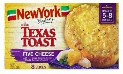 Garlic Bread, New York Bakery® Five Cheese Texas Toast Garlic Bread (8 Count, 13.5 oz Box)