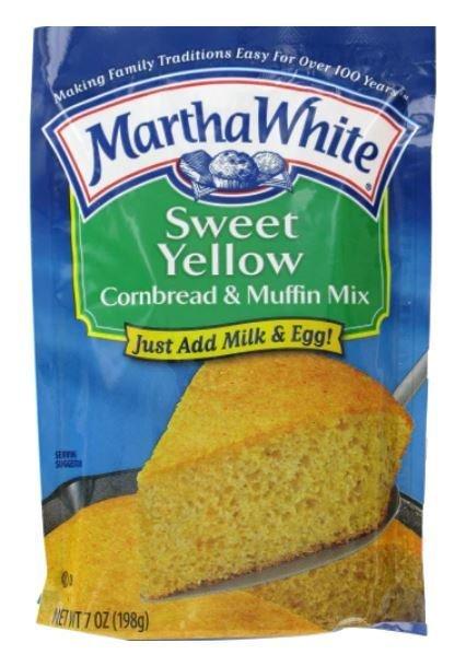 Corn Bread Mix, Martha White® Sweet Yellow Corn Bread & Muffin Mix (7 oz Bag)