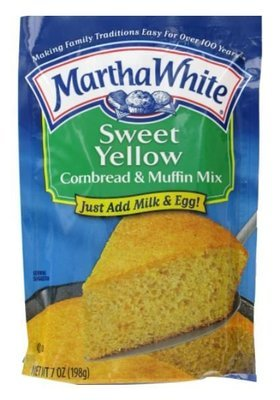 Corn Bread Mix, Martha White® Sweet Yellow Corn Bread & Muffin Mix (7 oz Bag)