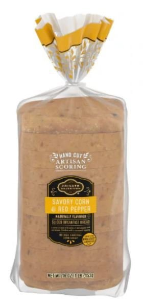 Loaf Bread, Private Selection™ Savory Corn & Red Pepper Bread (16 oz Bag)