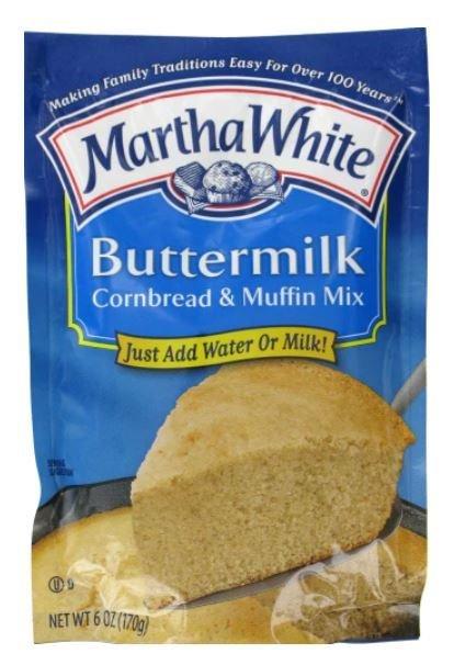 Corn Bread Mix, Martha White® Buttermilk Corn Bread & Muffin Mix (6 oz Bag)
