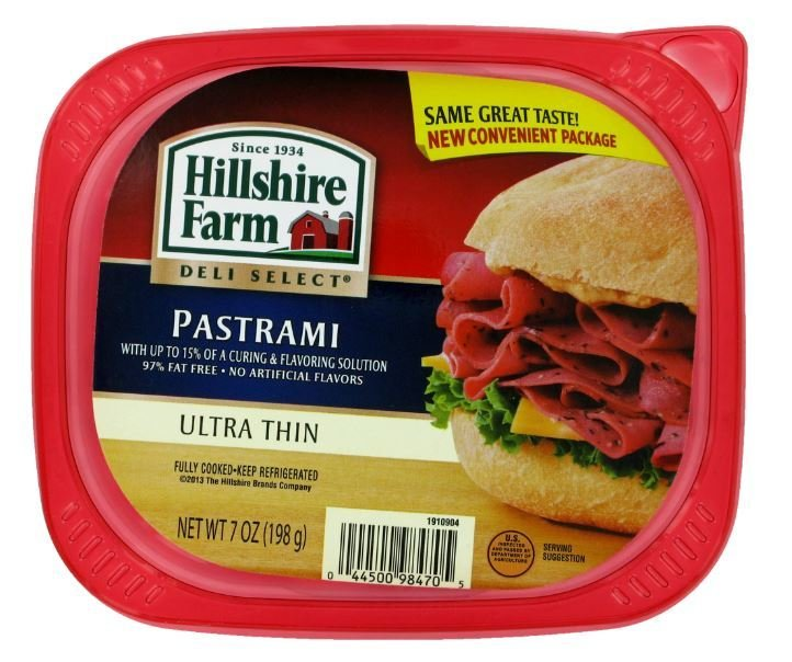Sandwich Meat, Hillshire Farm® Pastrami (7 oz Resealable Tray)
