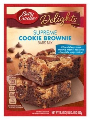 Brownie Mix, Betty Crocker® Cookie Brownie Bars Mix (19.5 oz Box)