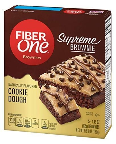 Brownies, Fiber One® Cookie Dough Brownies (5 Count, 5.65 oz Box)