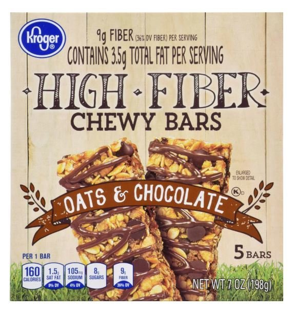 Snack Bar, Kroger® Chewy Bars® Oats & Chocolate (5 Count, 7 oz Box)