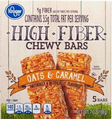 Snack Bar, Kroger® Chewy Bars® Oats & Caramel (5 Count, 7 oz Box)