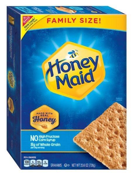 Graham Crackers, Nabisco® Honey Maid® Honey Graham Crackers (Family Size-25.6 oz Box)