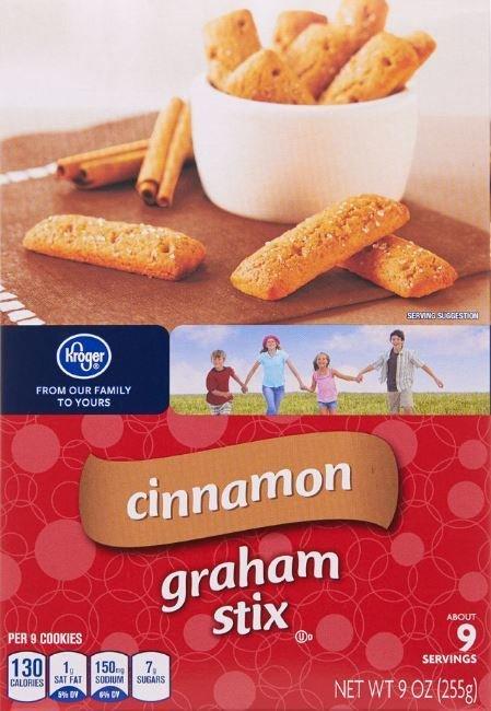 Graham Crackers, Kroger® Cinnamon Graham Stix Crackers (9 oz Box)