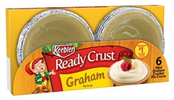 Pie Crust, Keebler® Graham Cracker Pie Crust (6 Count, 3 inch Crust-4 oz Tray)