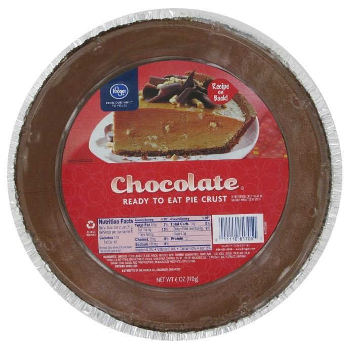 Pie Crust, Kroger® Chocolate Pie Crust (6 oz Tray)