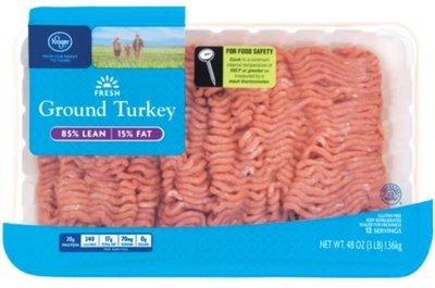Ground Turkey, Kroger®, Ground Turkey 85% Lean (3 lb Tray)