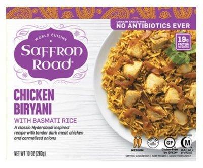 Frozen Dinner, Saffron Road® Chicken Biryani (11 oz Box)