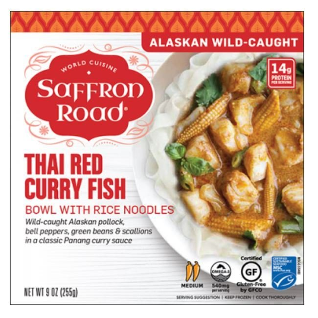Frozen Dinner, Saffron Road® Thai Red Curry Fish Bowl (9 oz Box)