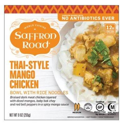 Frozen Dinner, Saffron Road® Thai-Style Mango Chicken Bowl (9 oz Box)