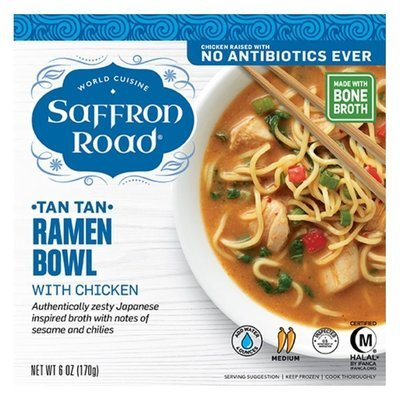 Frozen Dinner, Saffron Road® Tan Tan Ramen Bowl with Chicken (9 oz Box)
