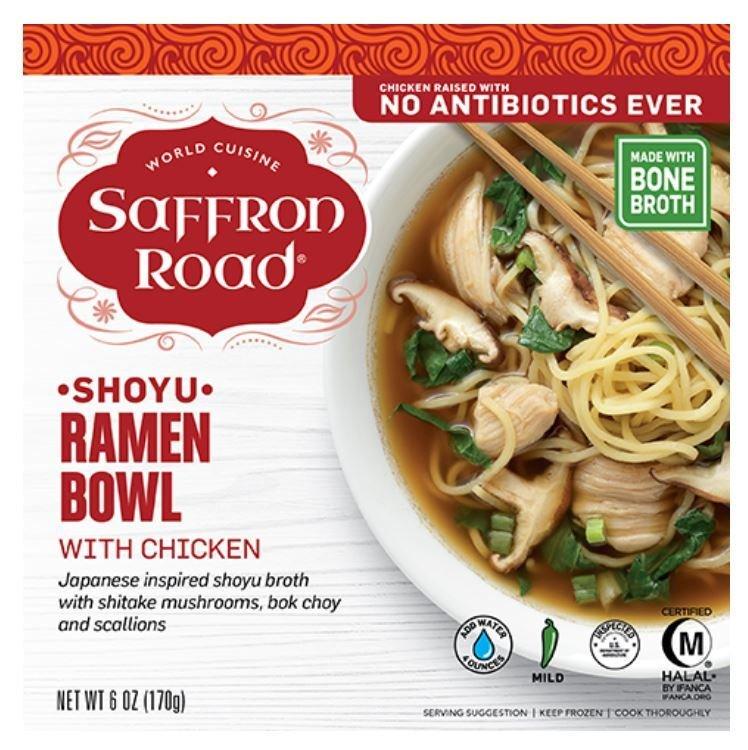 Frozen Dinner, Saffron Road® Shoyu Ramen Bowl with Chicken (9 oz Box)