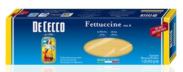 Pasta, De Cecco® Fettuccine Pasta (16 oz Box)