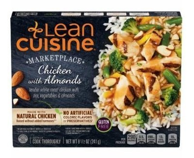 Frozen Dinner, Lean Cuisine® Marketplace™ Chicken with Almonds (8.5 oz Box)