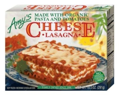 Frozen Lasagna, Amy's® Organic Cheese Lasagna (10.3 oz Box)