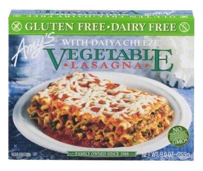 Frozen Lasagna, Amy's® Organic Gluten Free Dairy Free Vegetable Lasagna (9 oz Box)