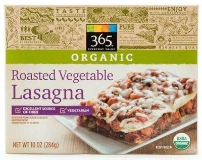 Frozen Lasagna, 365® Organic Roasted Vegetable Lasagna (10 oz Box)