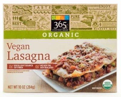 Frozen Lasagna, 365® Organic Vegan Lasagna (10 oz Box)
