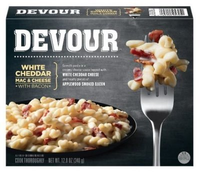 Mac N Cheese Dinner, Devour® White Cheddar Mac & Cheese with Bacon (12 oz Box)