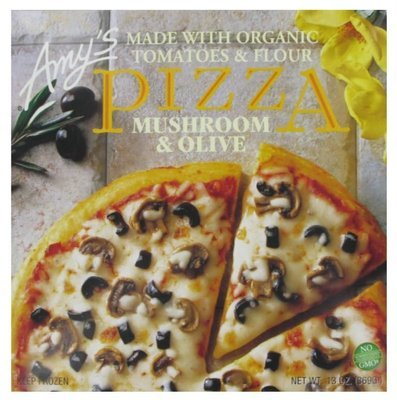 Organic Pizza, Amy's® Organic Mushroom & Olive Pizza (13 oz Box)