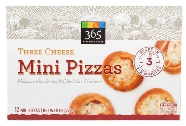 Frozen Pizza, 365® Three Cheese Mini Pizzas (12 Mini Pizzas, 8 oz Box)