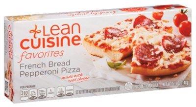 Pizza Bread, Lean Cuisine® Favorites™ Pepperoni French Bread Pizza (5.25 oz Box)