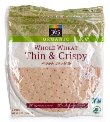Pizza Crust, 365® Organic Whole Wheat Thin & Crispy Pizza Crusts (2 Count, 10 oz Bag)