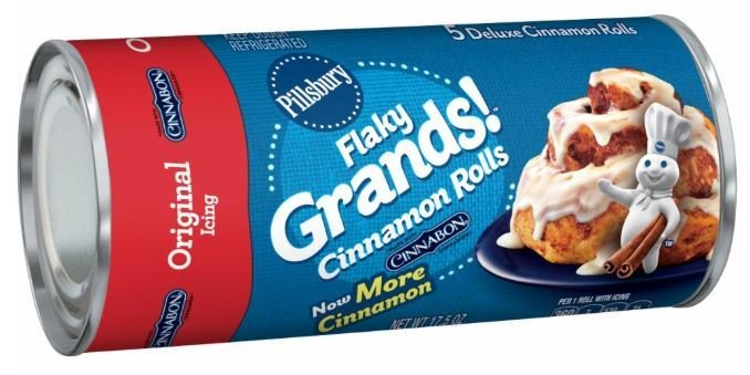 Cinnamon Roll Dough, Pillsbury® Flaky Grands! Cinnabon Rolls with Original Icing (17.5 oz Tube)