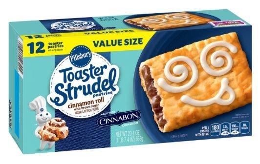 Strudel, Pillsbury® Cinnabon Cinnamon Roll Toaster Strudel (12 count, 23.4 oz Box)