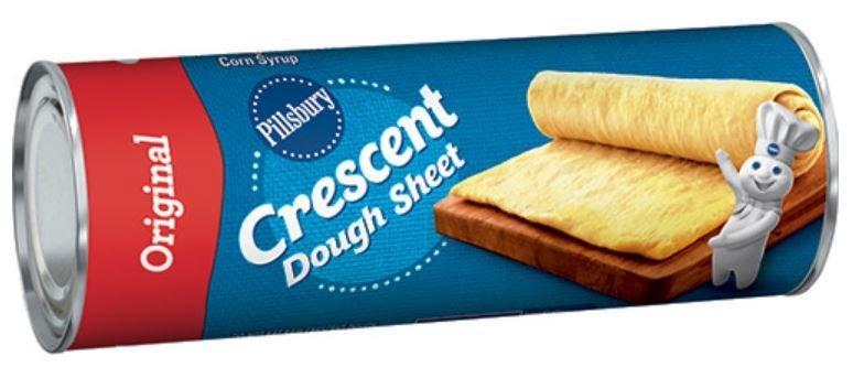 Crescent Roll Dough, Pillsbury® Original Crescent Dough Sheet (8 oz Tube)