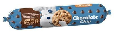 Cookie Dough, Pillsbury® Chocolate Chip Cookie Dough (Value Size-30 oz Tube)
