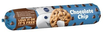 Cookie Dough, Pillsbury® Chocolate Chip Cookie Dough (16.5 oz Tube)