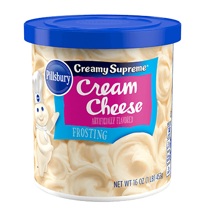 Cake Frosting Mix, Pillsbury® Creamy Supreme™ Cream Cheese Frosting (16 oz Tub)