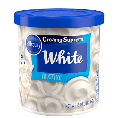 Cake Frosting Mix, Pillsbury® Creamy Supreme™ White Frosting (16 oz Tub)
