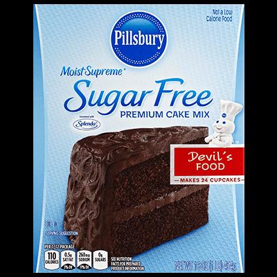 Cake Mix, Pillsbury® Moist Supreme™ Sugar Free Devil's Food Cake Mix (15.25 oz Box)