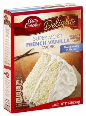 Cake Mix, Betty Crocker® Delights Super Moist™ French Vanilla Cake Mix (15.25 oz Box)