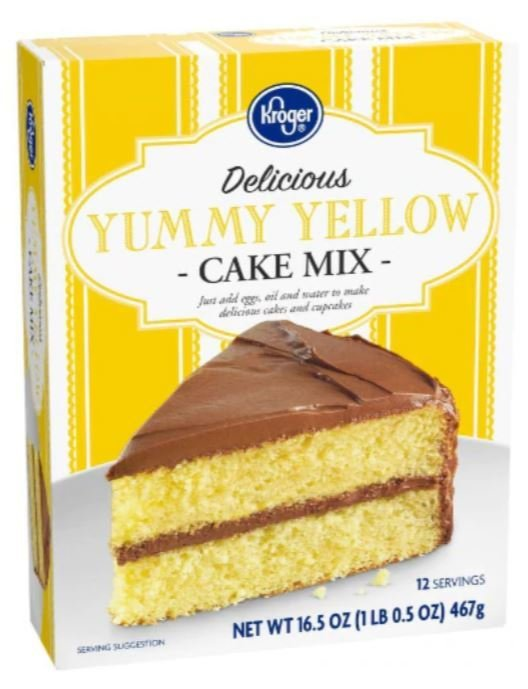 Cake Mix, Kroger® Delicious Yummy™ Yellow Cake Mix (16.5 oz Box)