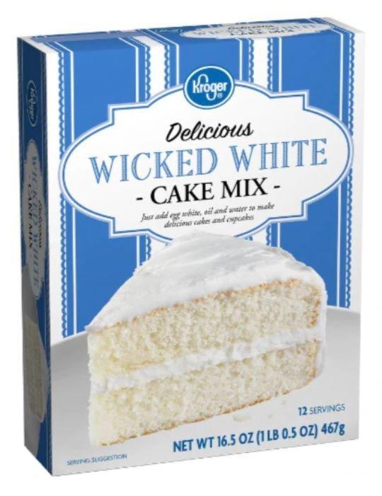 Cake Mix, Kroger® Delicious Wicked™ White Cake Mix (16.5 oz Box)